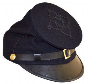 Union 1st Lieutenants  Blue Forage Cap 1 Lines Of Braid]